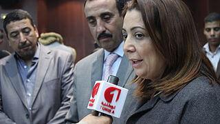 Wided Bouchamaoui er leder for UTICA, tilsvarende Tunisias NHO. Hun var en av fire som mottok Nobelprisen i Oslo 10. desember 2015. Foto: WikipediaCommons
