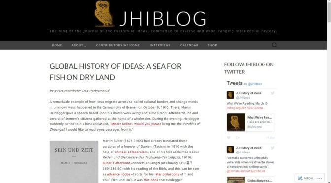 Call for a global history of ideas